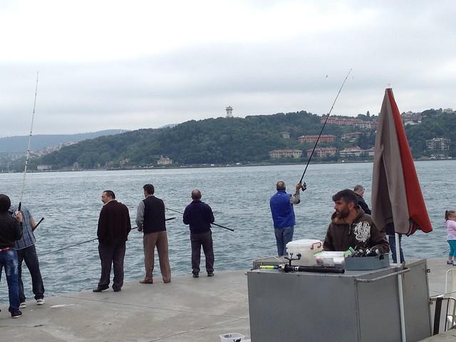 Fishermen on the Bosphorous