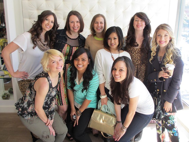 All done up & gorgeous at Drybar: Lynn, Kate, Jes, Eli, Lauren, Parris, Kelly, Jen, and Kiri