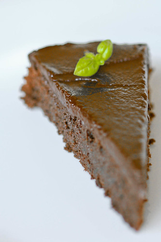 Chocolate-Basil Passover Cake