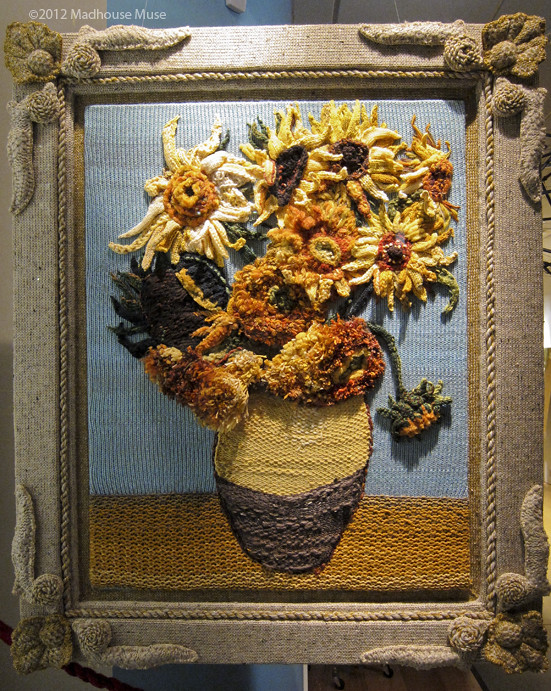 Sunflowers knitted