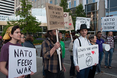 Catholic Workers protest NATO at Obama HQ-0024