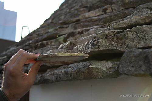 The stone shingles of a trullo roof, Alberobello, Puglia