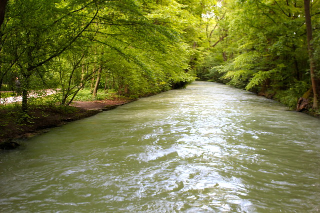 Impressive river. Impressive park.