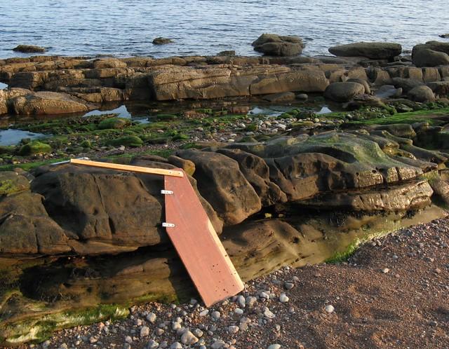 Beach wreckage