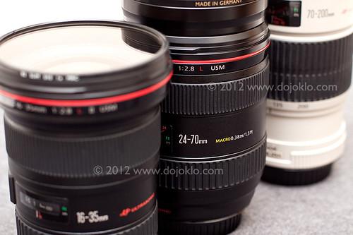 Canon lens L trio trinity