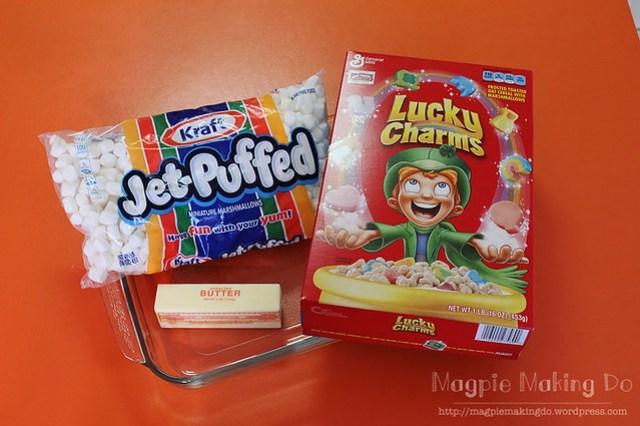 Lucky Charm Bars Supplies