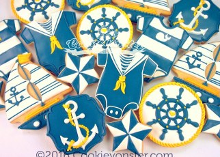 Nautical Baby Shower set