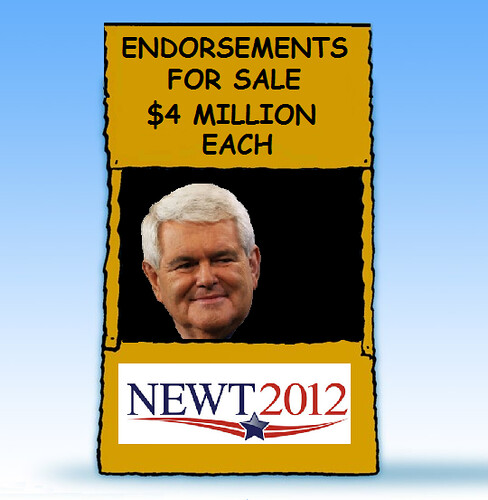 Newt's Campaign Memento: $4 Million Debt