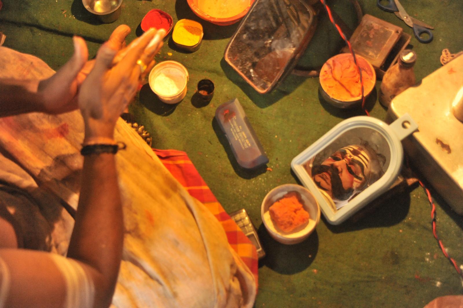 Getting ready for the inaugurals - Bhima, Yakshagana Kichaka Vadha