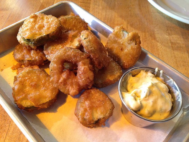 House-made fried pickles - The Dancing Pig