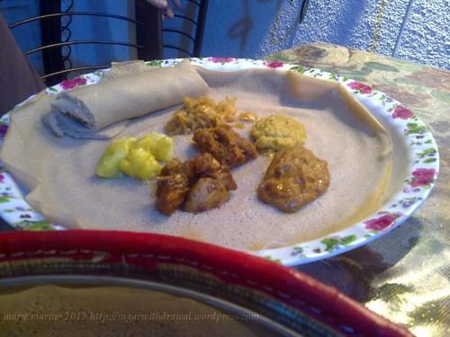 Ethiopian restaurant vegetarian dish