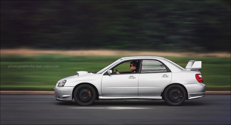2004 Subaru WRX STi rolling shot