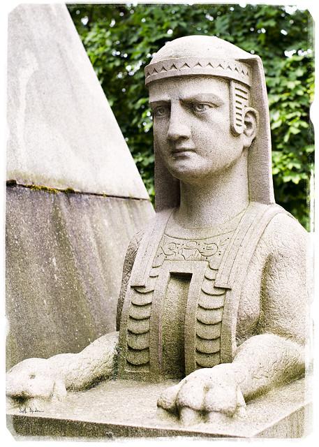 Sphinx  Schoenhofen Pyramid Mausoleum