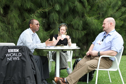 Berhanu Gebremedhin, IPMS briefs BBC reporters