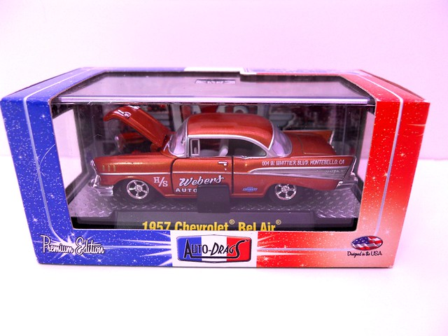 m2 machines auto drags boxed 1957 chevy bel air