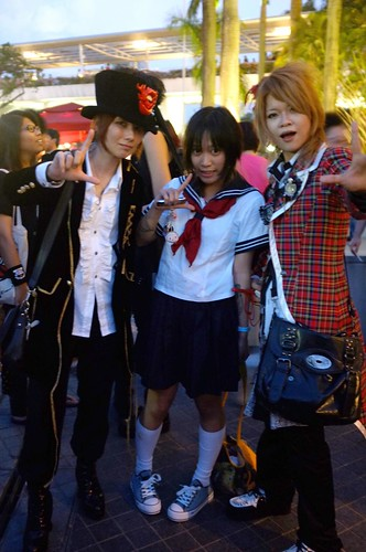 with the cosplayers