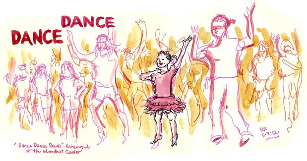 Dance Dance Davis final rehearsal