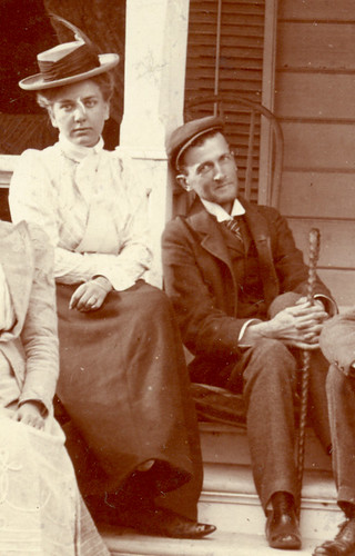 Marie Schwill and Howard F. Peirce in Phoenix, 1899, shortly before his death
