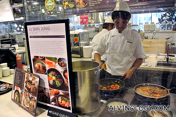 Ju Shin Jung Korean Cuisine stall
