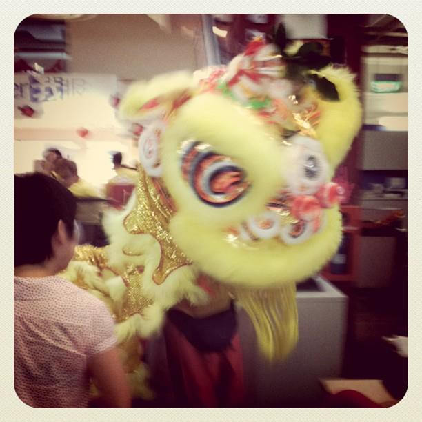 26 Jan - Lion dance in the office