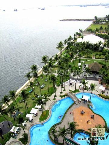 Imperial Suite Veranda overlooking Manila Bay