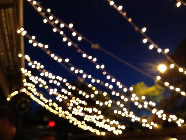 Strings of lights, Mad River Bar