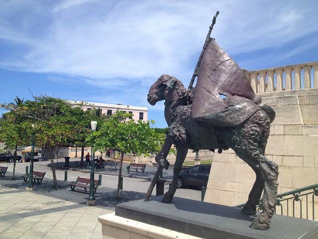 Lamb of God statue San Juan