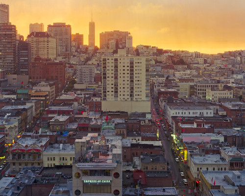 Crown Large Format Through-The-Window San Francisco Sunset Chinatown