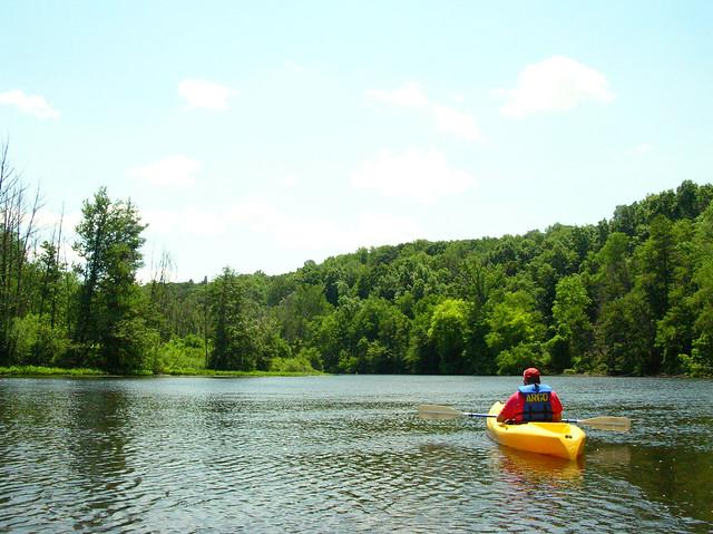 Justin in his kayak