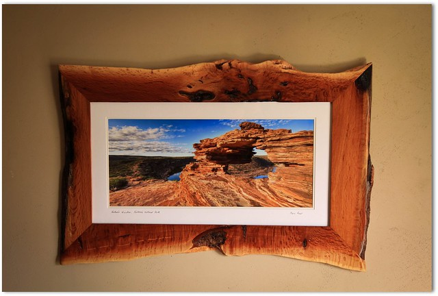 (Kalbarri Picture framer's)  Framed my panorama of natures window