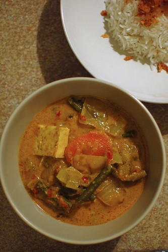 Sayur Lodeh and Rice