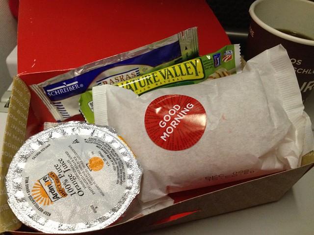 Breakfast bagel - Virgin Atlantic