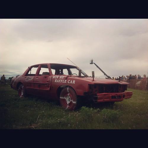 Pontiac Demolition derby car