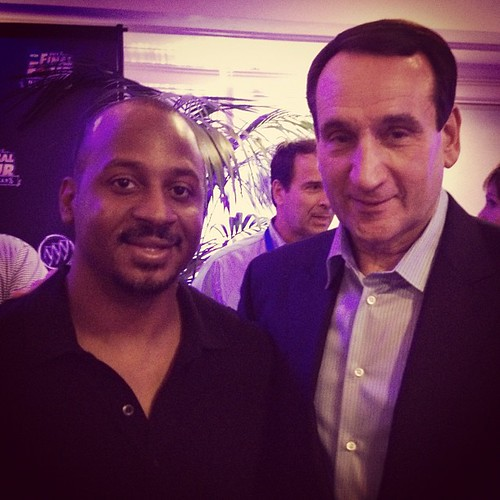 Photo w/ Coach K, talked about NC #BuickNCAA  #BracketTown #NOLA  #NCAA  #FinalFour