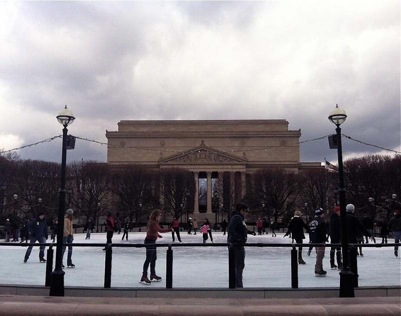 The National Gallery of Art Sculpture Garden Ice Rink- February 2012