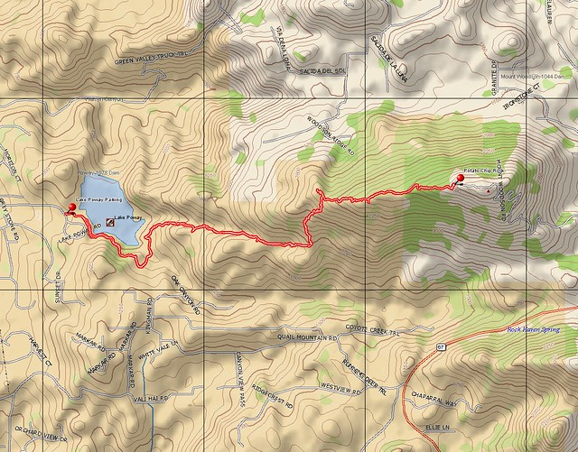 Topographic Map of Our Ill-Fated Expedition to Mount Woodson