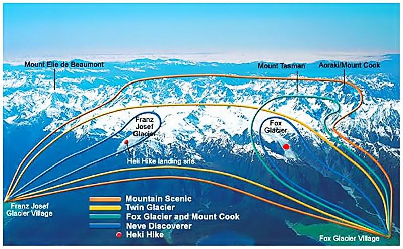Fox Glacier helicopter landing site