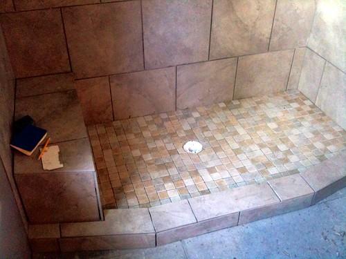 Bathroom Remodel: Day I've Lost Track: Shower Pan!