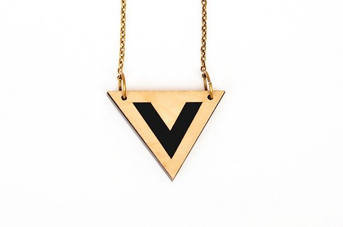 Necklace Birch Triangle1