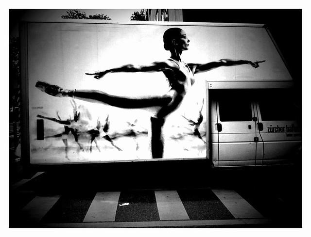 Ballerina on the move