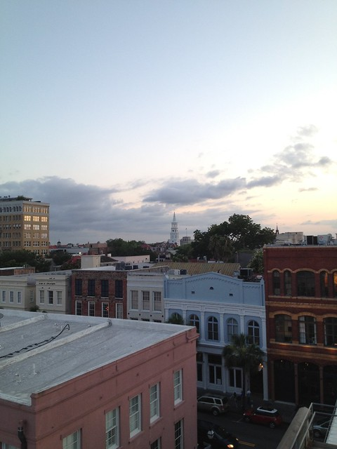 View from the Rooftop Bar at the Vendue Inn