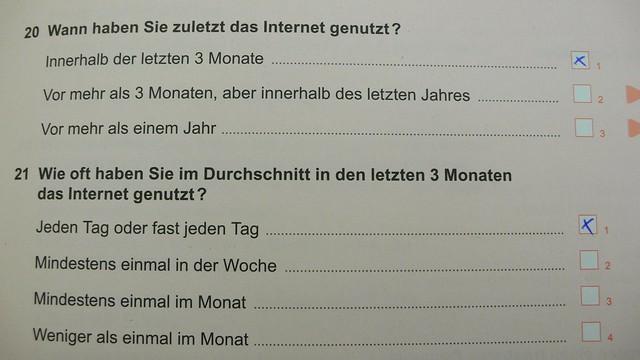 das (mobile) Internet genutzt?