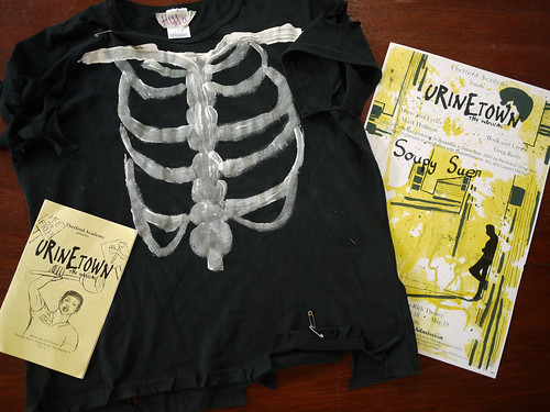 Urinetown program, shirt, and poster