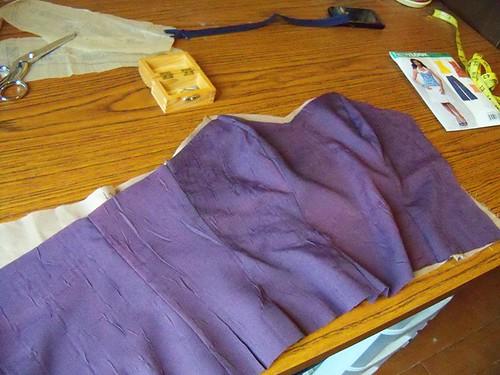 purple dress bodice