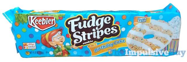 REVIEW Keebler Limited Batch Birthday Cake Fudge Stripes Cookies