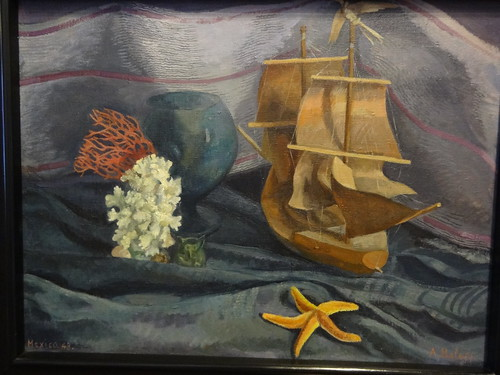 Still life with ship, by Angelina Beloff (1948).