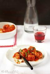 Polpette de poulet rôti, sauce sicilienne
