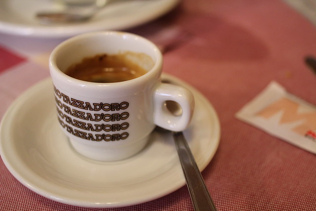Espresso after lunch