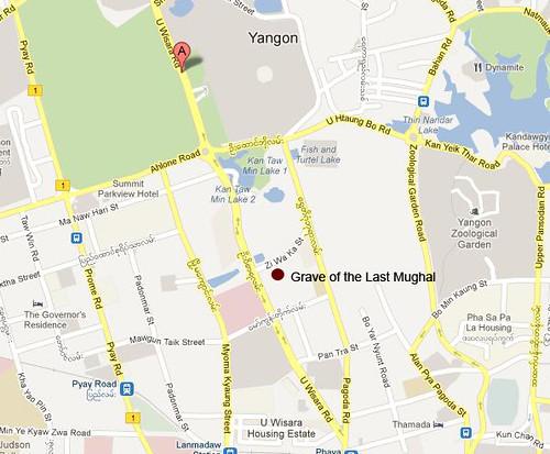 gmap yangon marked up