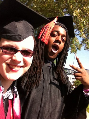 Jessica Dickinson Goodman and Ismail Smith Wade El at Carnegie Mellon Graduation